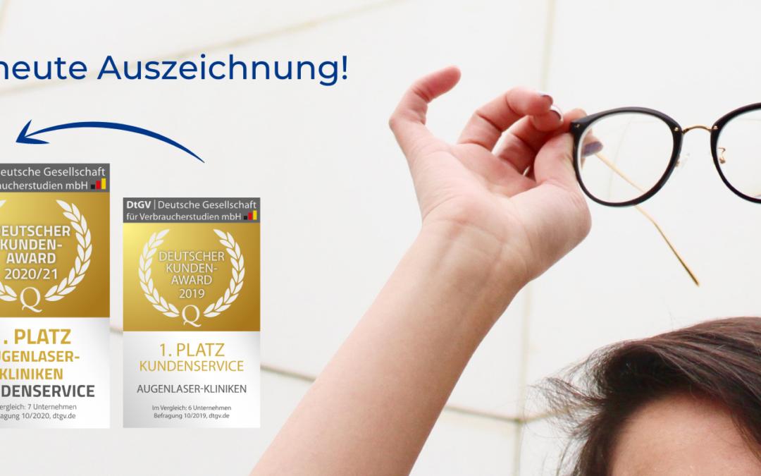 Erneute Auszeichnung mit dem DtGV Kundenservice-Award für Augenlaser-Behandlungen